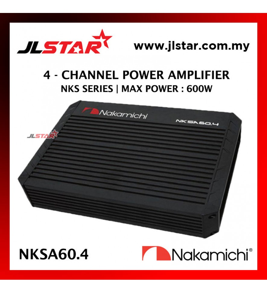 NAKAMICHI NKSA60.4 BRIDGEABLE 4-CHANNEL CAR POWER AMPLIFIER NKS-SERIES