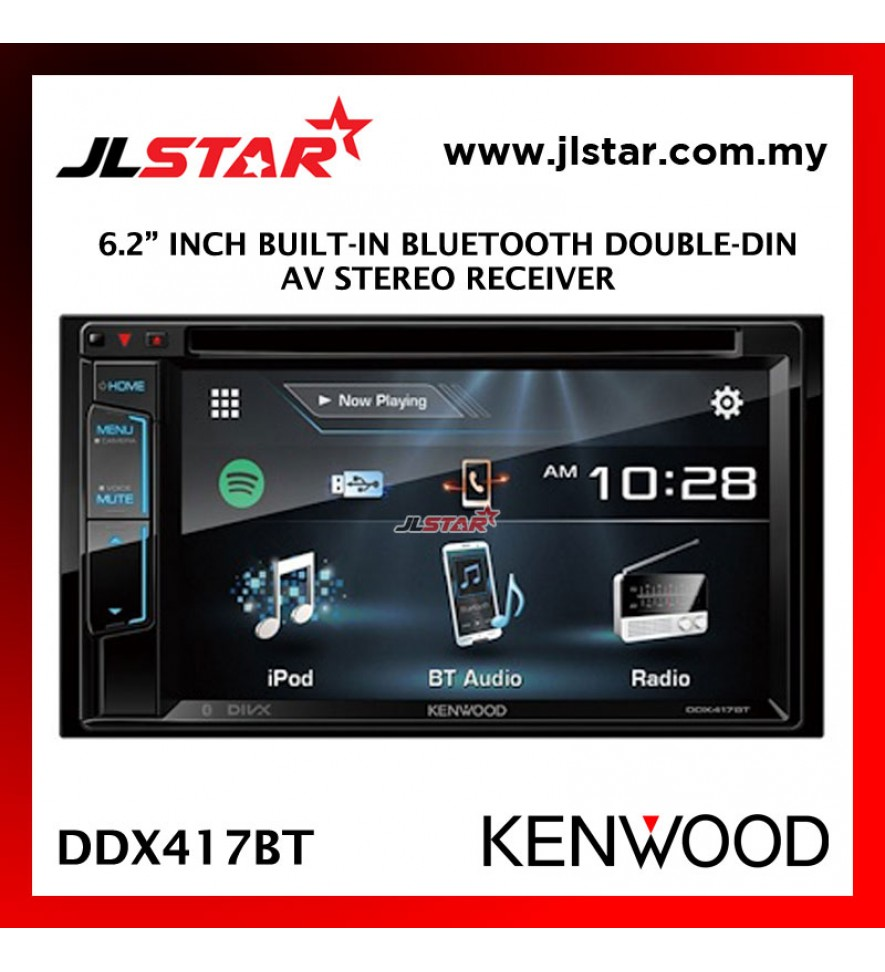 "KENWOOD DDX417BT 6.2"" INCH TOUCH SCREEN AV RECEIVER CAR AUDIO STEREO PLAYER"