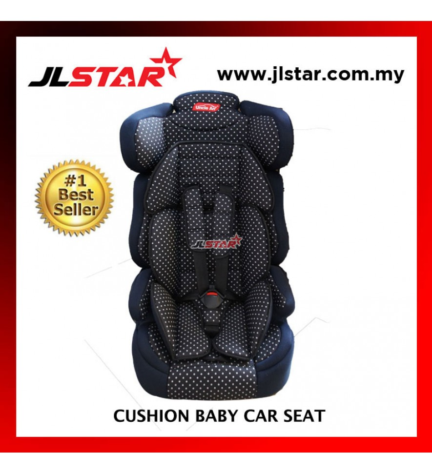 POLKADOT BABY CAR SEAT FOR NEW BORN TO 5 YEARS OLD BLACK COLOR