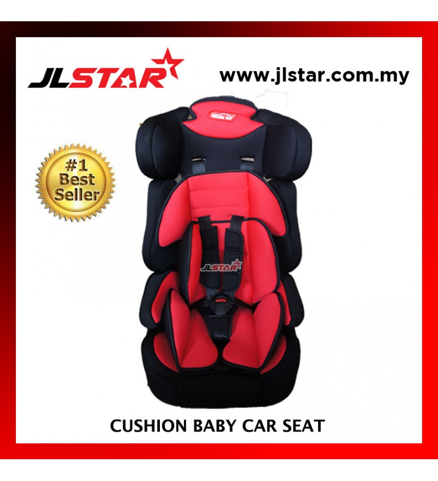 BABY CAR SEAT FOR NEW BORN TO 5 YEARS OLD BLACK WITH RED COLOR