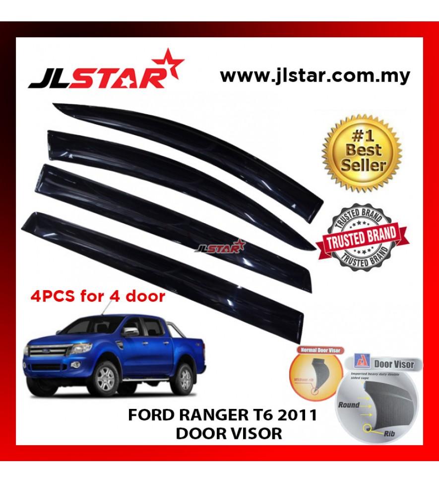 "FORD RANGER T6 2011 AIR PRESS CAR WINDOW DOOR VISOR WIND DEFLECTOR ANTI UV LIGHT 4.5"" (4PCS/SET)"