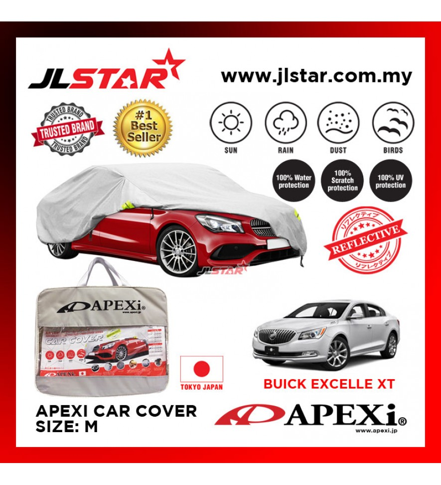 APEXI CAR COVER BUICK EXCELLE XT UV PROTECTION SUNPROOF DUST-PROOF WATER RESISTANT PROTECTIVE ANTI SCRATCH SIZE M