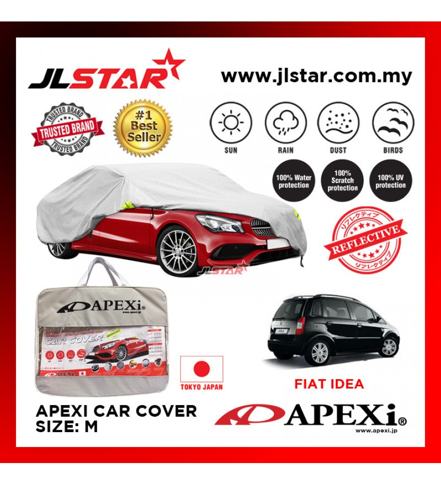 APEXI CAR COVER FIAT IDEA UV PROTECTION SUNPROOF DUST-PROOF WATER RESISTANT PROTECTIVE ANTI SCRATCH SIZE M