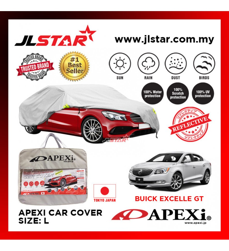 APEXI CAR COVER BUICK EXCELLE GT UV PROTECTION SUNPROOF DUST-PROOF WATER RESISTANT PROTECTIVE ANTI SCRATCH SIZE L