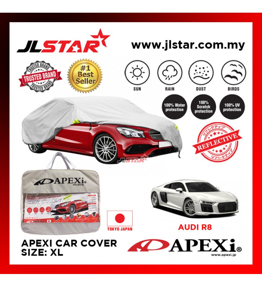 APEXI CAR COVER AUDI R8 UV PROTECTION SUNPROOF DUST-PROOF WATER RESISTANT PROTECTIVE ANTI SCRATCH SIZE XL