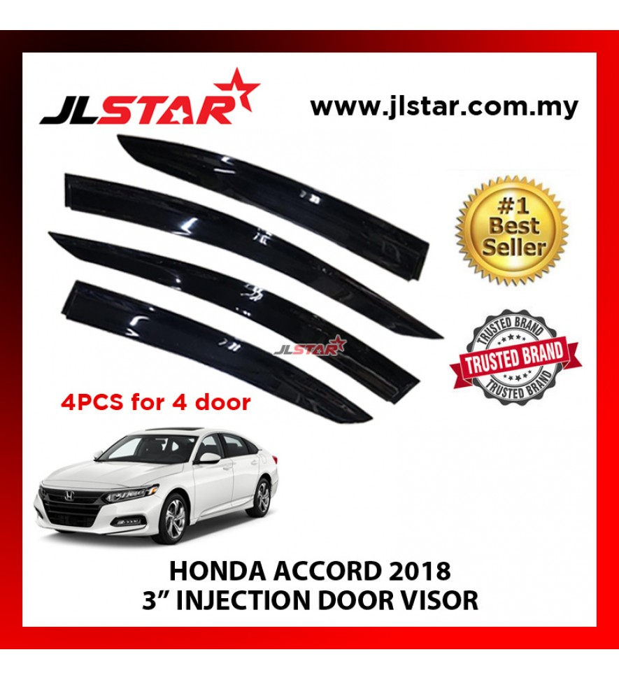 "HONDA ACCORD 2018 3"" INJECTION DOOR VISOR (4PCS/SET)"