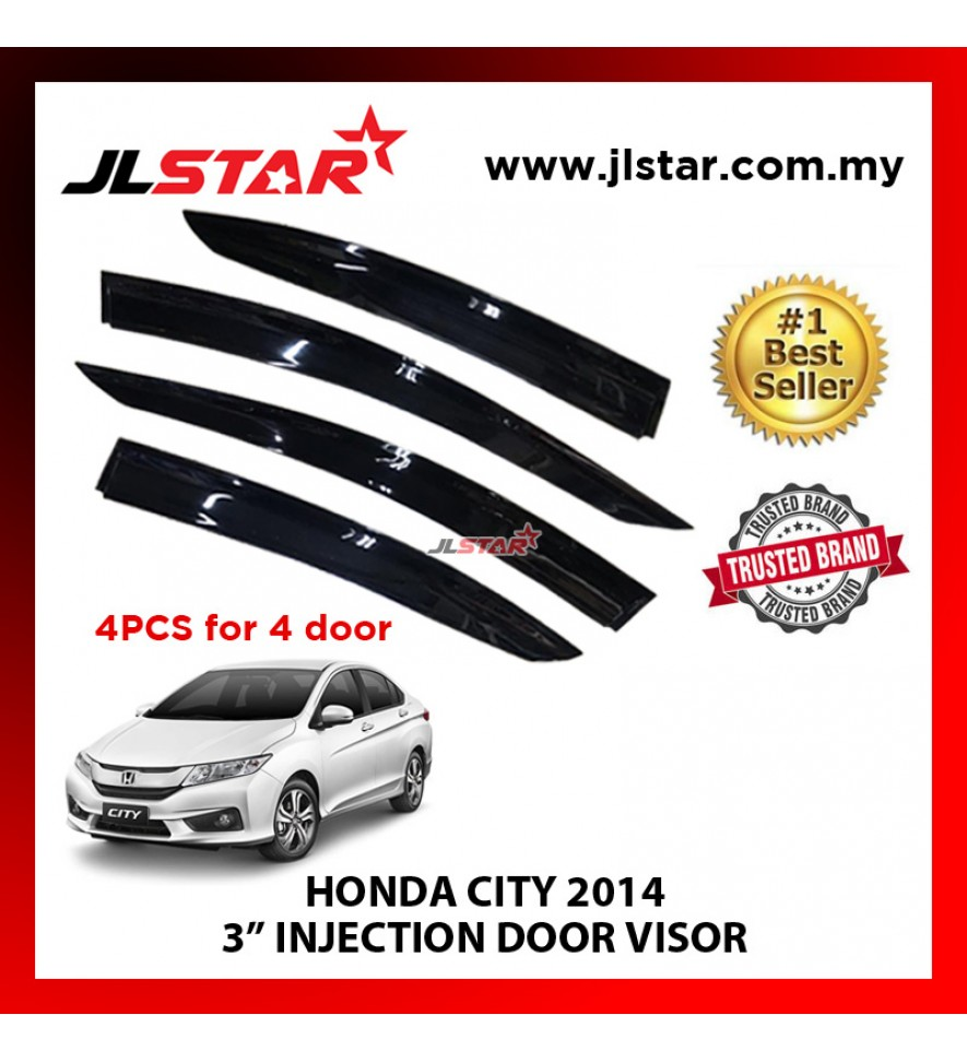 "HONDA CITY 2014 3"" INJECTION DOOR VISOR (4PCS/SET)"