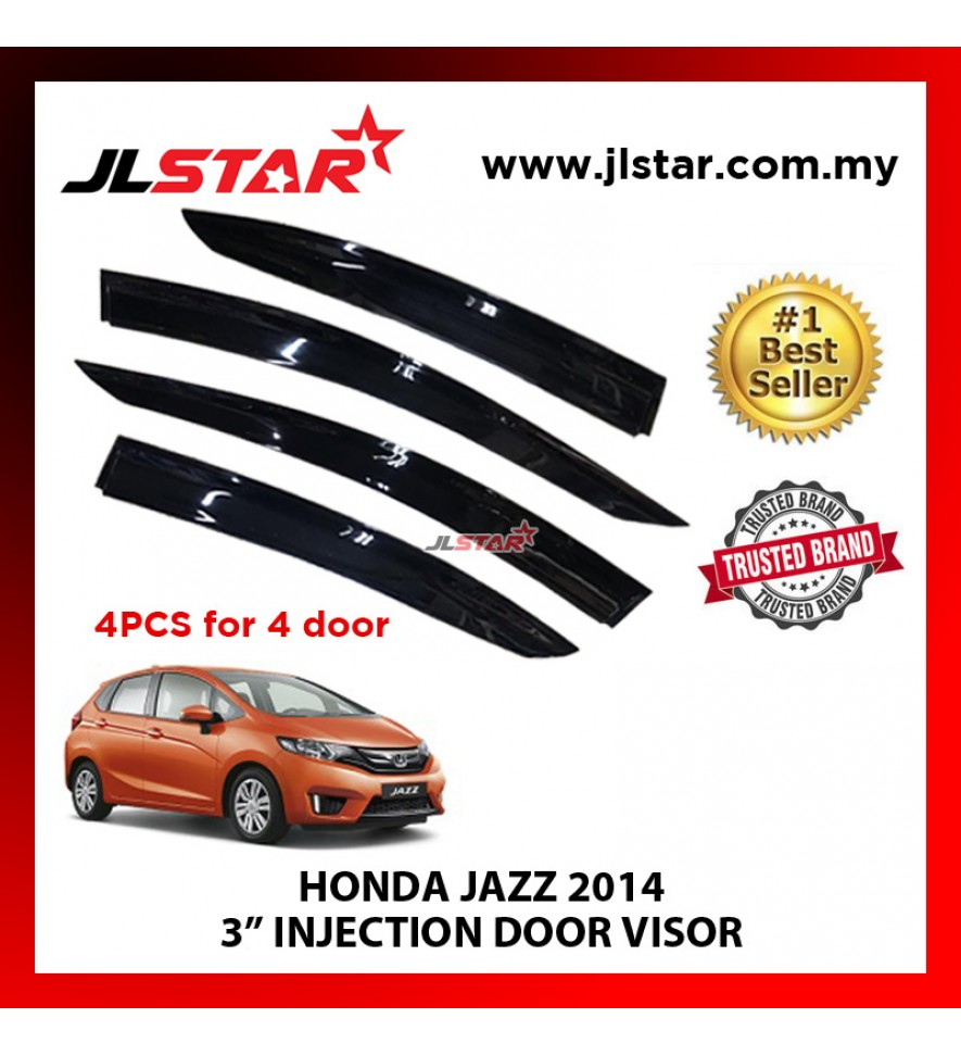 "HONDA JAZZ 2014 3"" INJECTION DOOR VISOR (4PCS/SET)"