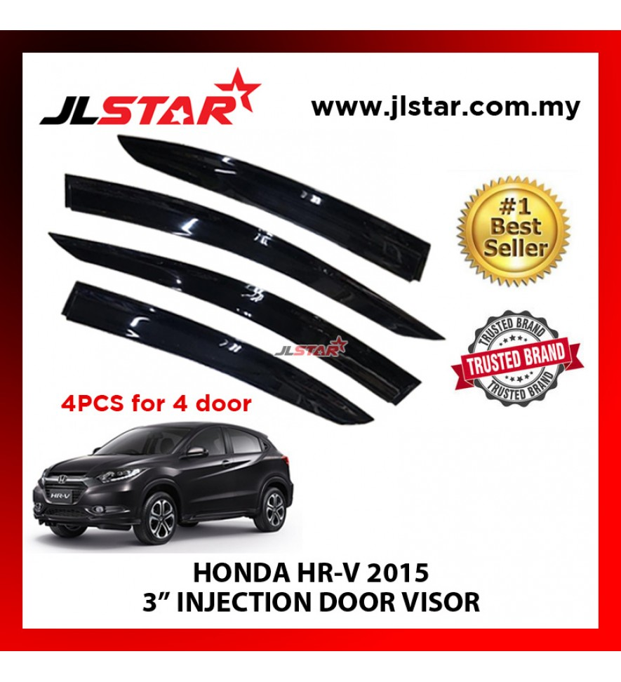 "HONDA HRV 2015 3"" INJECTION DOOR VISOR (4PCS/SET)"