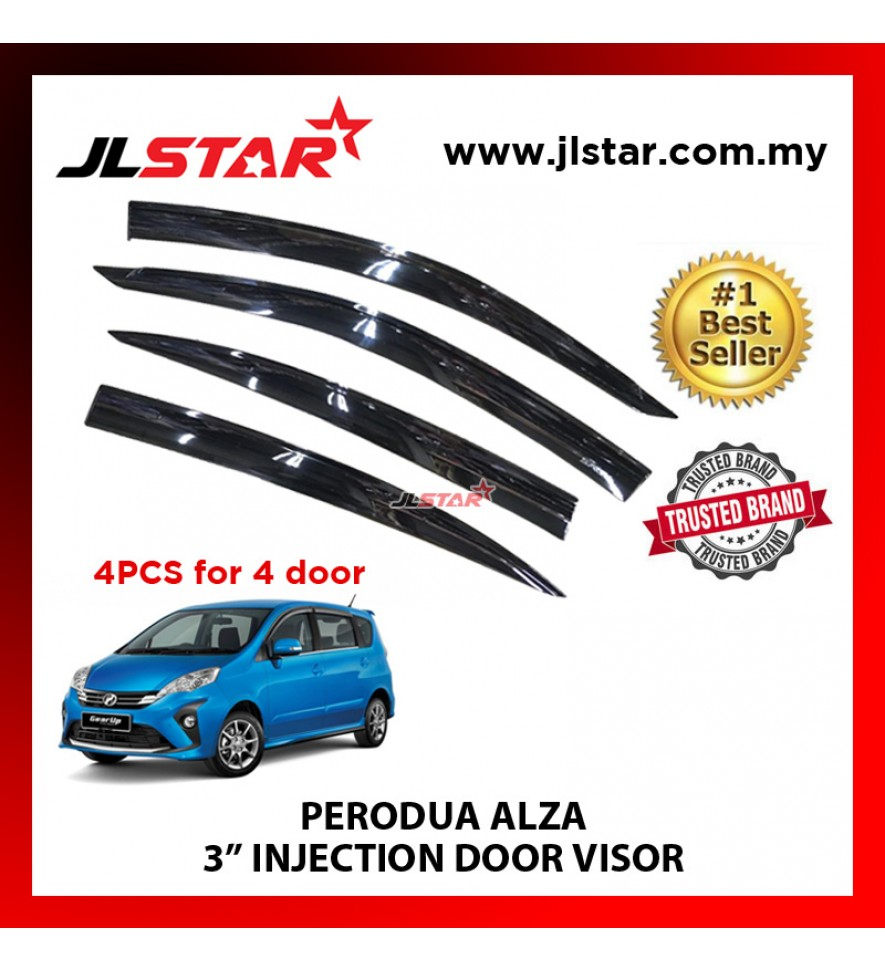 "PERODUA ALZA 3"" INJECTION DOOR VISOR (4PCS/SET)"