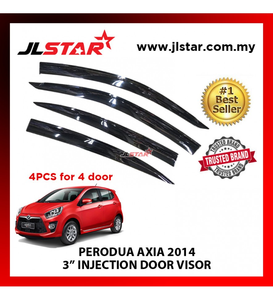 "PERODUA AXIA 2014 3"" INJECTION DOOR VISOR (4PCS/SET)"