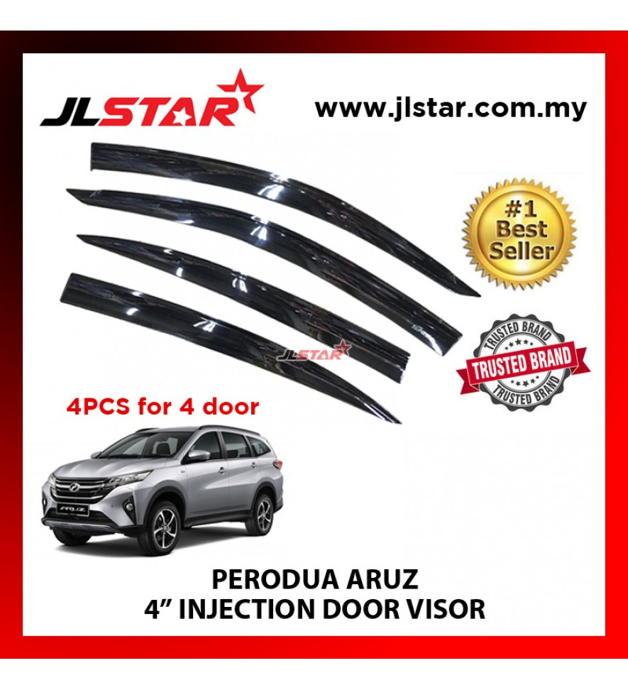 "PERODUA ARUZ 4"" INJECTION DOOR VISOR (4PCS/SET)"