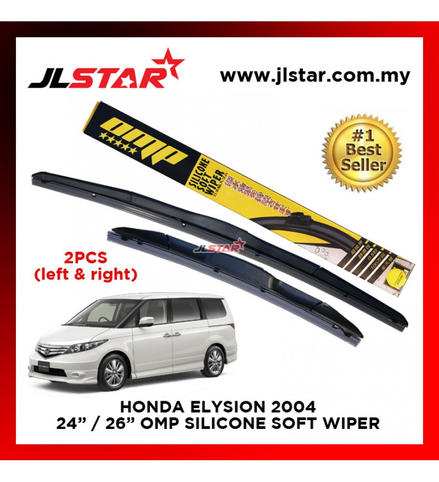 "HONDA ELYSION 2004 SILICONE SOFT WIPER 24""/26"" WIPER BLADE SET"
