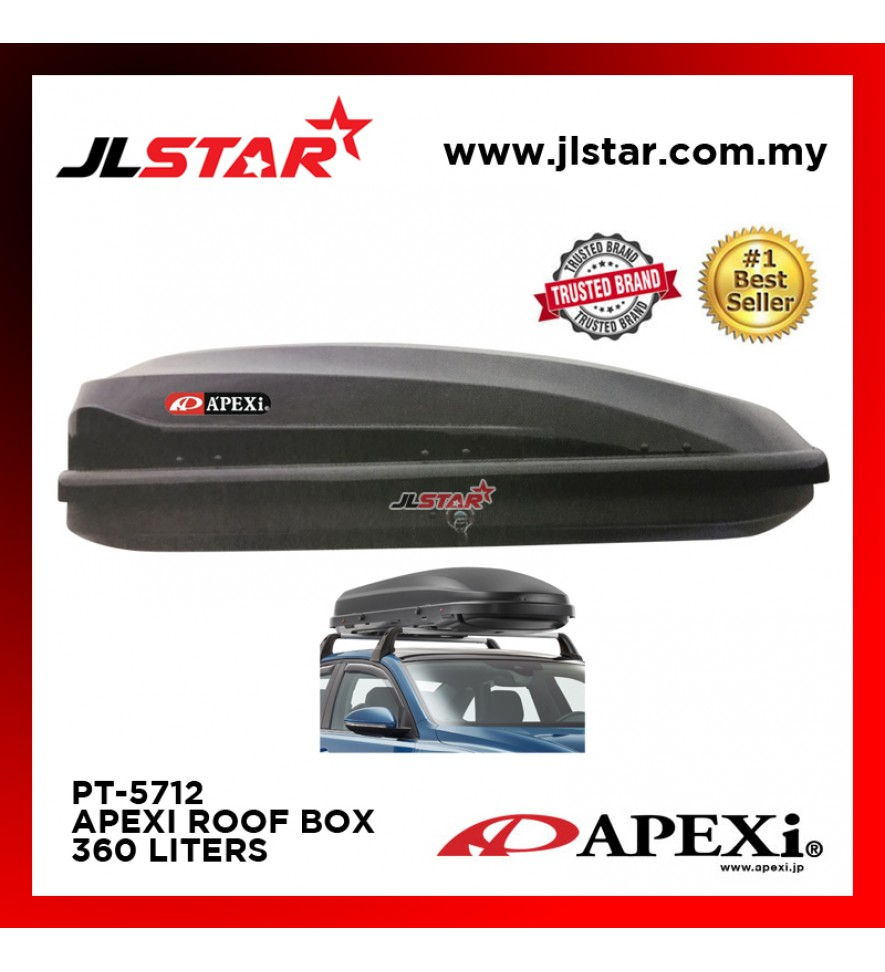 PT-5712 APEXI UNIVERSAL CAR ROOF BOX CARRIER 360L 139x 90x 39CM - BLACK