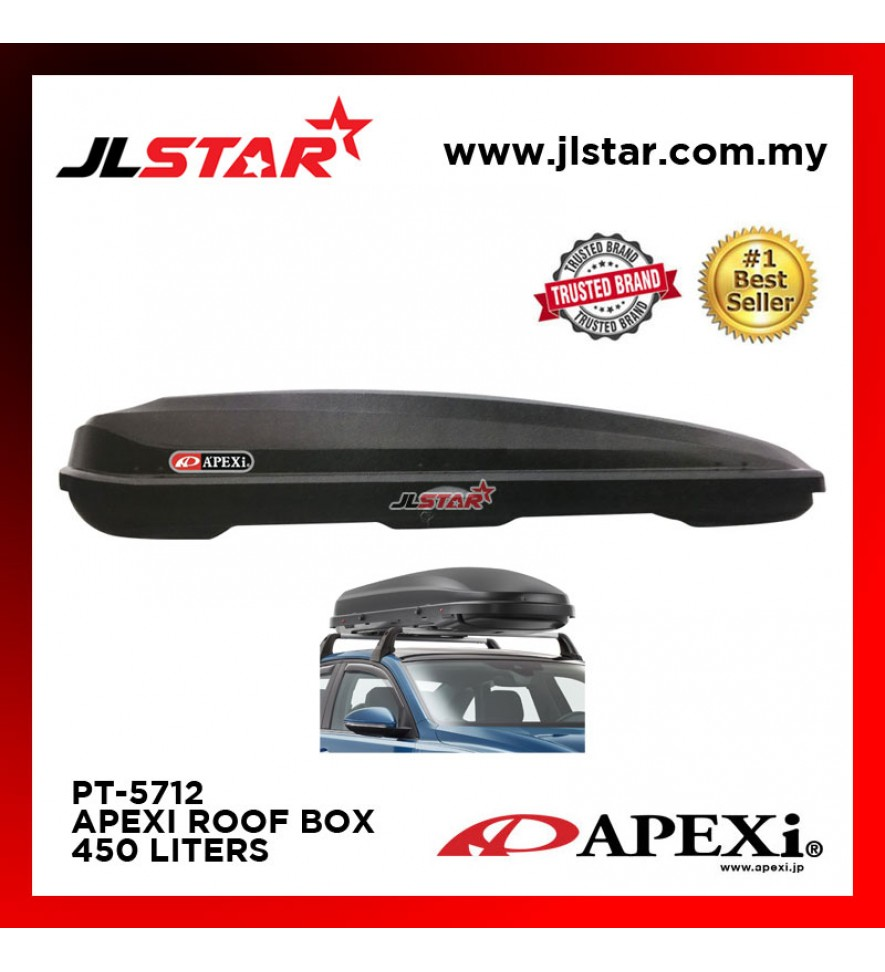 PT-5712 APEXI UNIVERSAL CAR ROOF BOX CARRIER 450L 173.5x 83x 43CM - BLACK