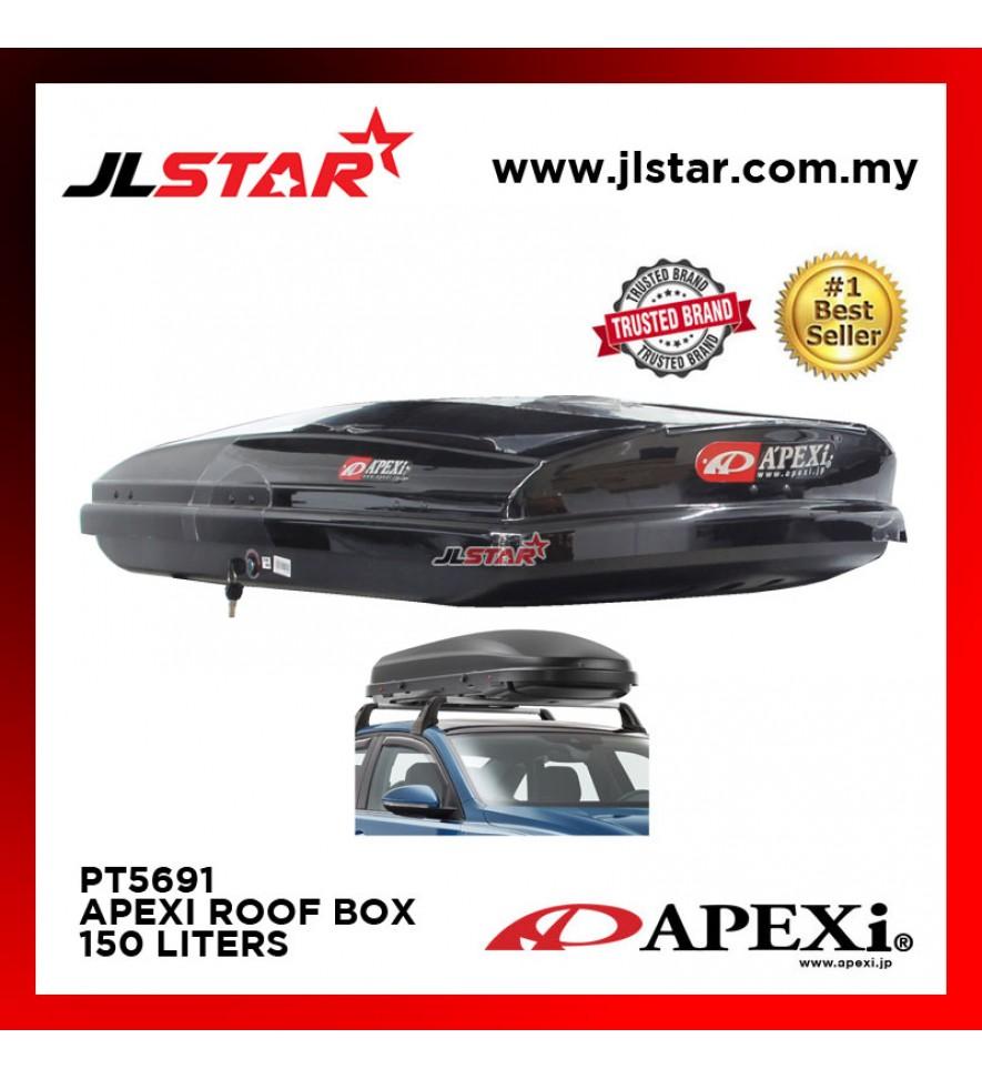 PT-5691 APEXI UNIVERSAL CAR ROOF BOX CARRIER 150L 108x 64x 33CM - BLACK