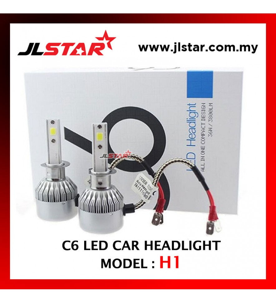 C6 - H1 LED LIGHT CAR HEADLIGHT HEADLAMP AUTO HEAD LIGHT LAMP - WHITE LIGHT 2PCS 1PAIR
