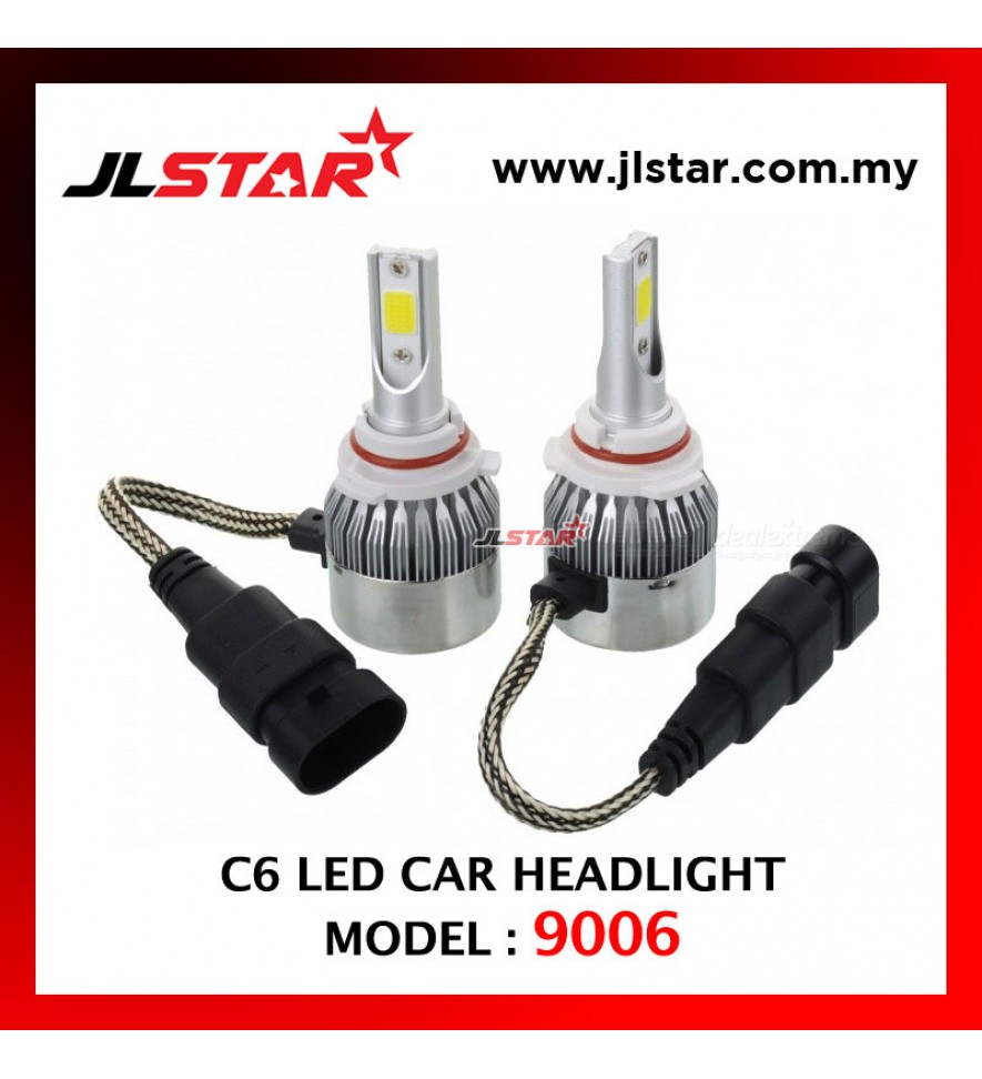 C6 - 9006 LED LIGHT CAR HEADLIGHT HEADLAMP AUTO HEAD LIGHT LAMP - WHITE LIGHT 2PCS 1PAIR