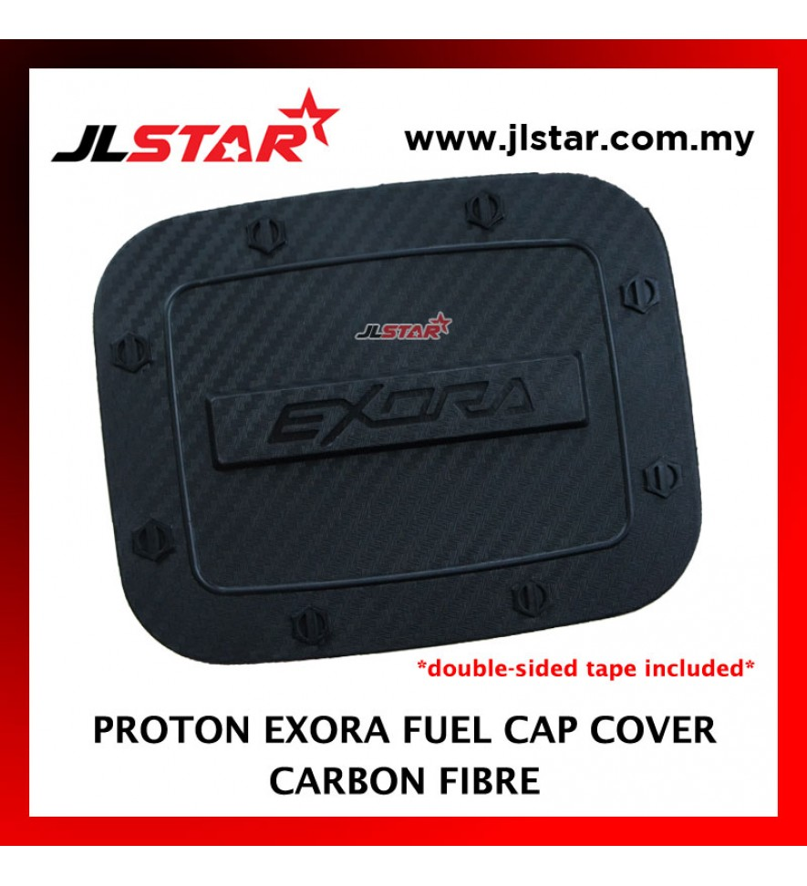 FUEL TANK GAS TRIM CAP COVER COLOR CARBON FIBER FOR PROTON EXORA (DOUBLE SIDED TAPE INCLUDED)