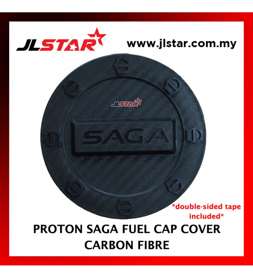 FUEL TANK GAS TRIM CAP COVER COLOR CARBON FIBER FOR PROTON SAGA (DOUBLE SIDED TAPE INCLUDED)