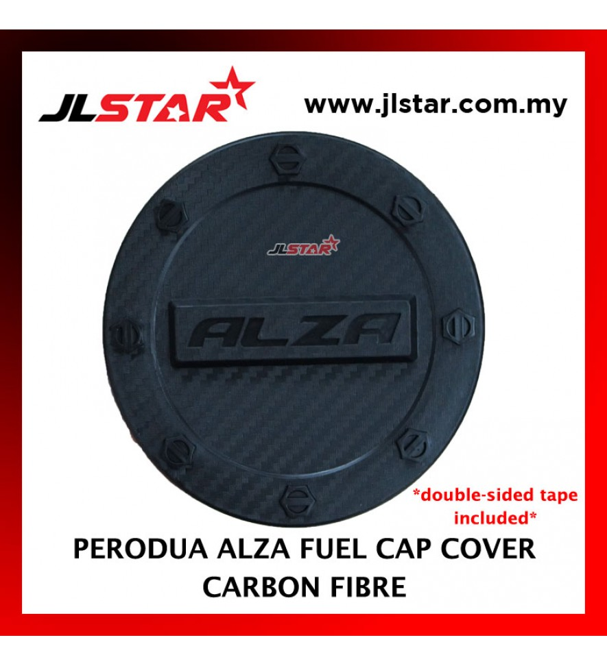 FUEL TANK GAS TRIM CAP COVER COLOR CARBON FIBER FOR PERODUA ALZA (DOUBLE SIDED TAPE INCLUDED)