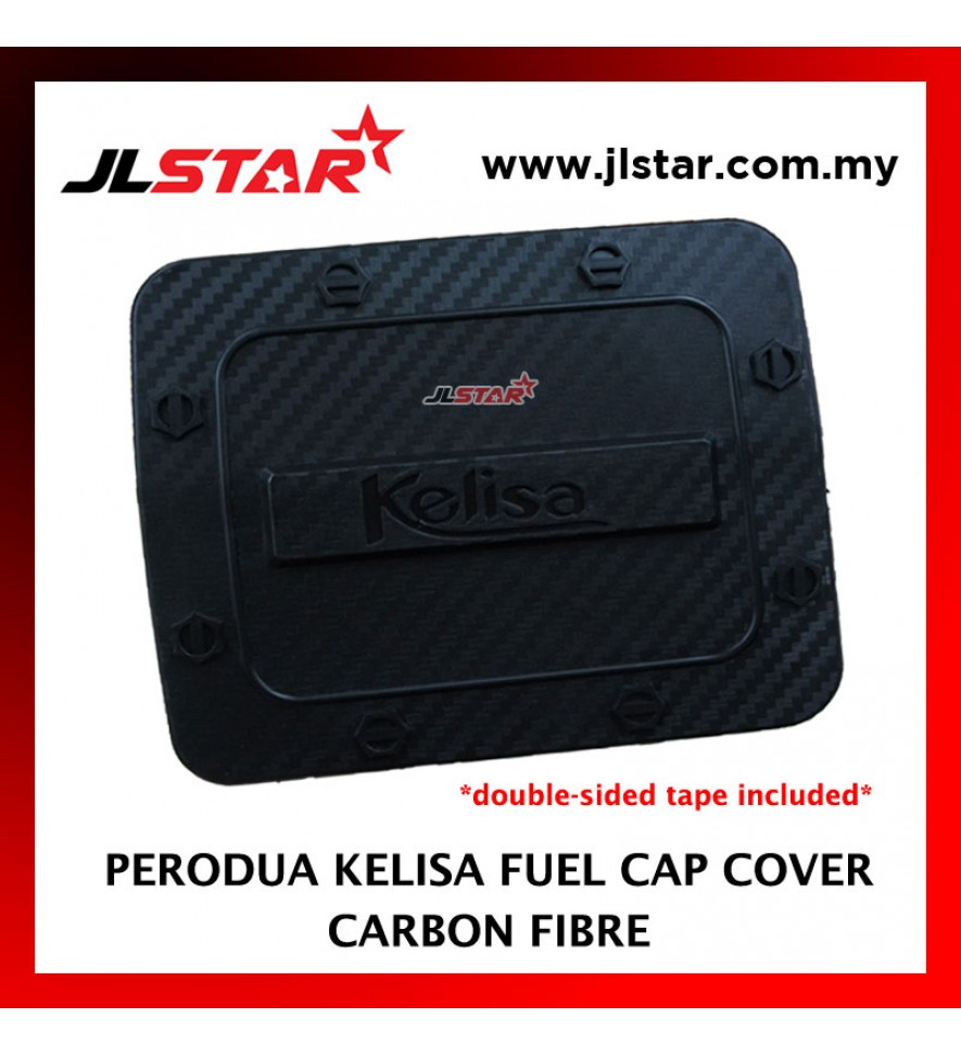FUEL TANK GAS TRIM CAP COVER COLOR CARBON FIBER FOR PERODUA KELISA (DOUBLE SIDED TAPE INCLUDED)