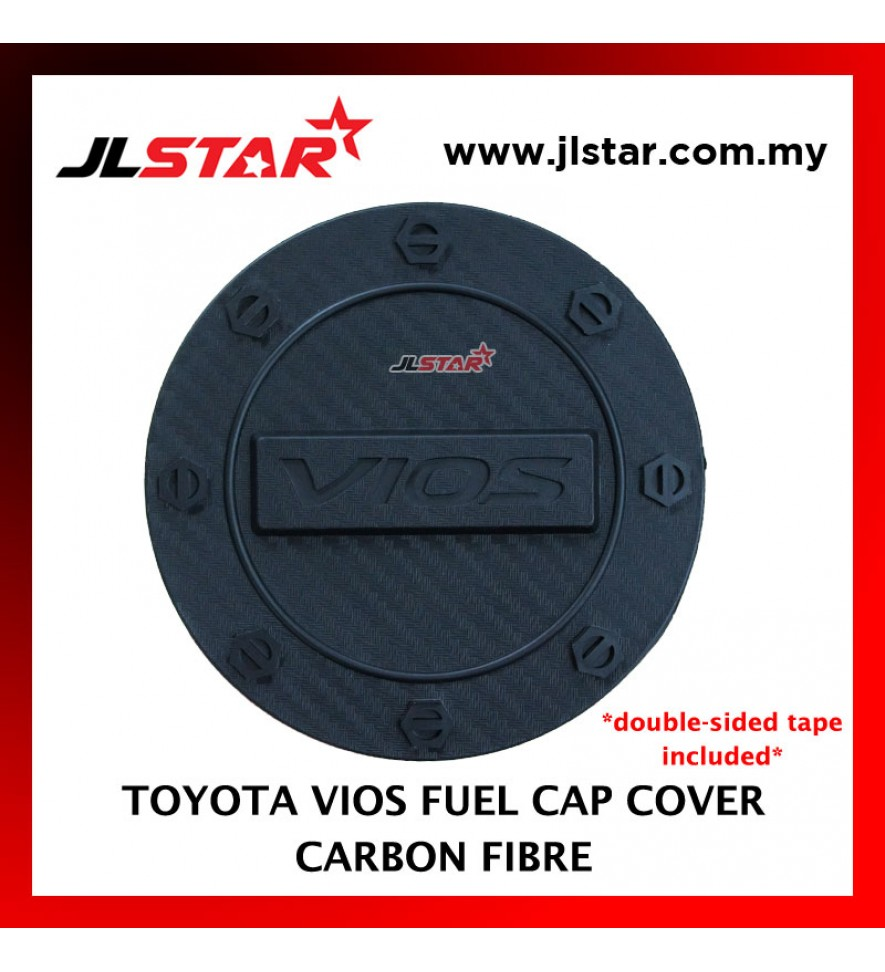 FUEL TANK GAS TRIM CAP COVER COLOR CARBON FIBER FOR TOYOTA VIOS 2014 (DOUBLE SIDED TAPE INCLUDED)