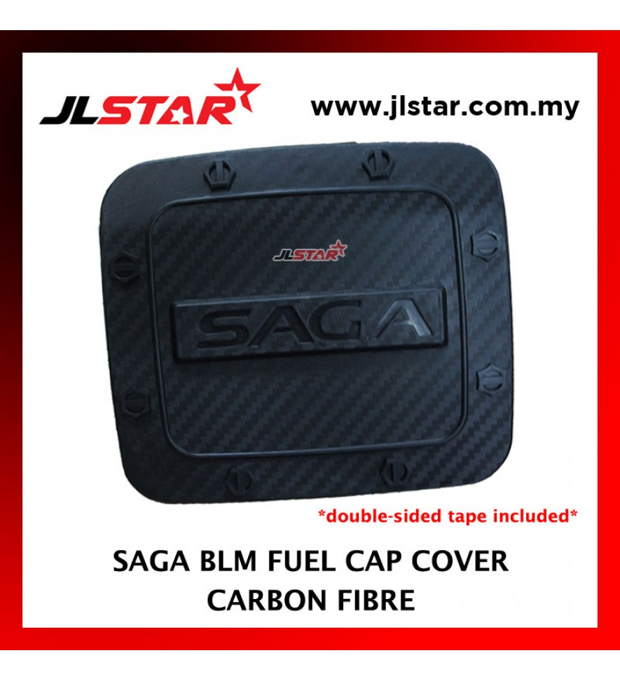 FUEL TANK GAS TRIM CAP COVER COLOR CARBON FIBER FOR SAGA BLM (DOUBLE SIDED TAPE INCLUDED)