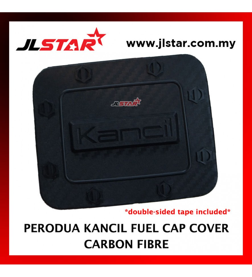 FUEL TANK GAS TRIM CAP COVER COLOR CARBON FIBER FOR PERODUA KANCIL (DOUBLE SIDED TAPE INCLUDED)
