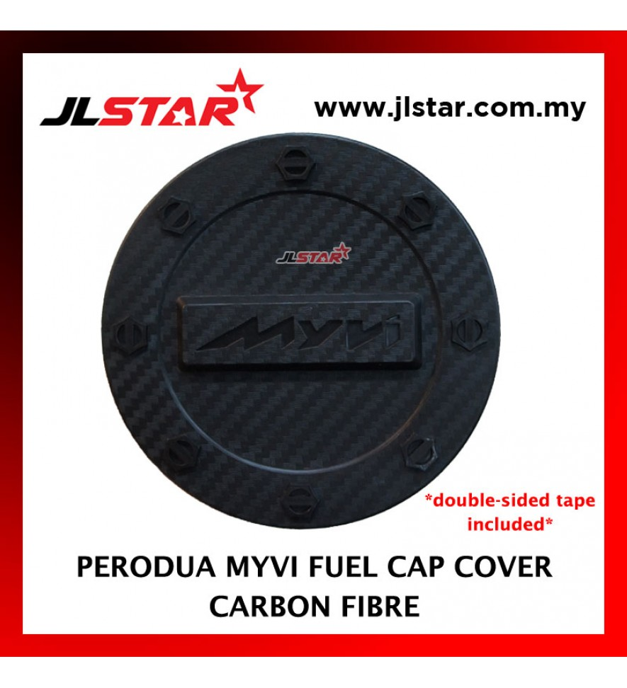 FUEL TANK GAS TRIM CAP COVER COLOR CARBON FIBER FOR PERODUA MYVI (DOUBLE SIDED TAPE INCLUDED)