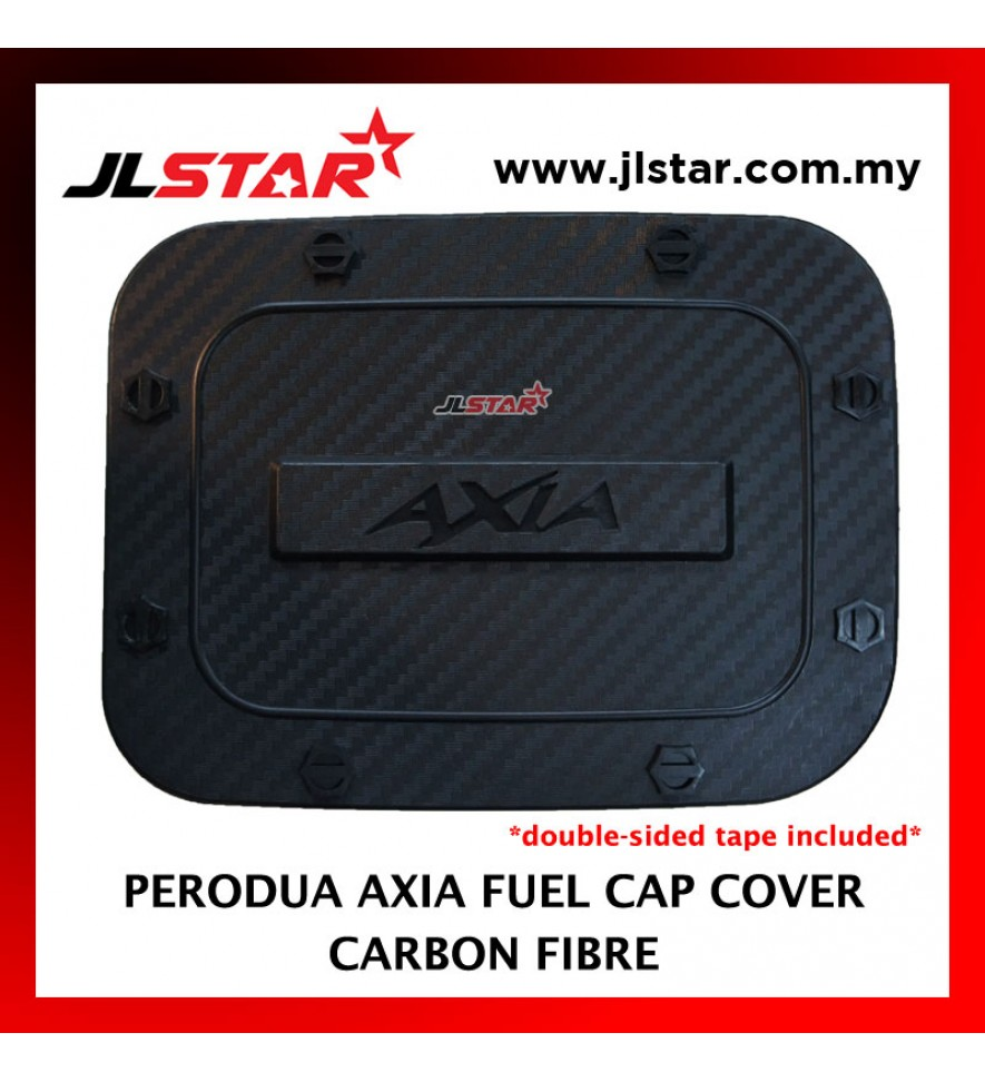 FUEL TANK GAS TRIM CAP COVER COLOR CARBON FIBER FOR PERODUA AXIA (DOUBLE SIDED TAPE INCLUDED)