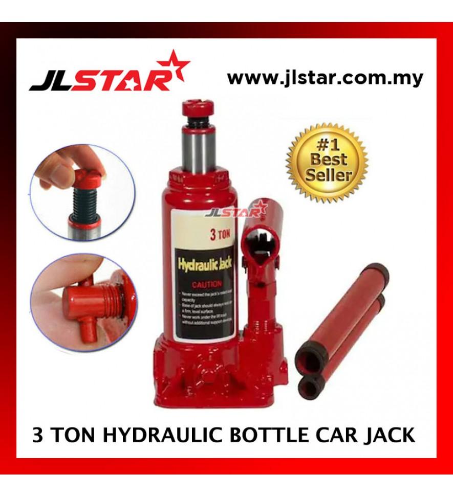 3 TON PORTABLE CAR HYDRAULIC BOTTLE FLOOR JACK EMERGENCY KIT HEAVY DUTY SUV TRUCK VAN AUTOMOTIVE