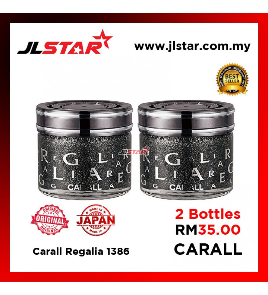 2PCS 100% ORIGINAL CARALL REGALIA 1386 CAR PURFUME