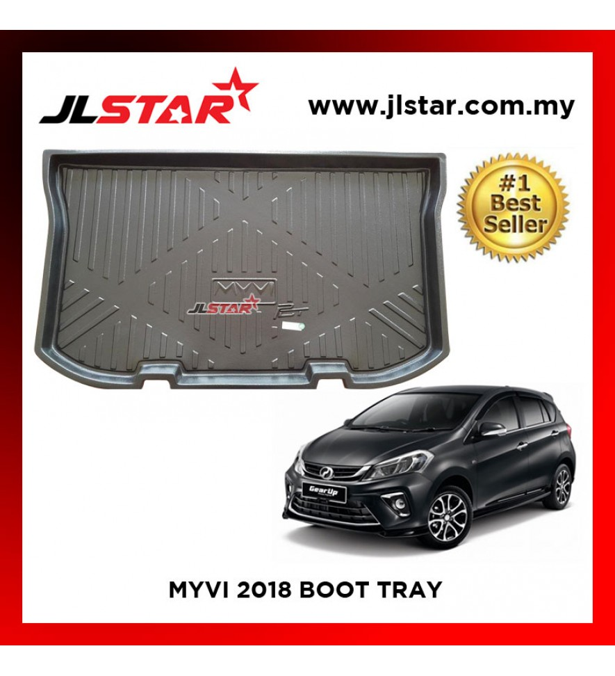 MYVI 2018 CUSTOM FIT CAR BOOT TRAY CARGO TRAY LUGGAGE TRAY
