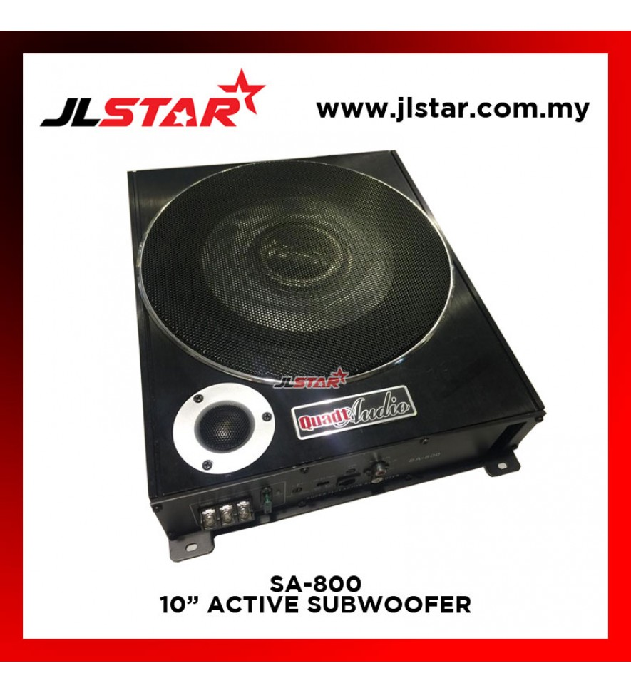 "QUADT AUDIO SA-800 10"" ACTIVE SUBWOOFER"