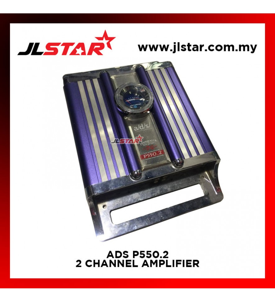 ADS P550.2 2CHANNEL AMPLIFIER