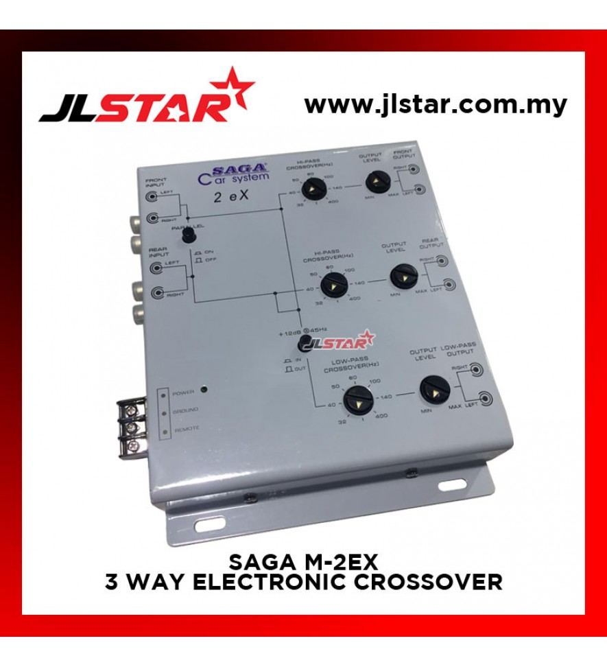 SAGA M-2EX 3 WAY ELECTRONIC CROSSOVER