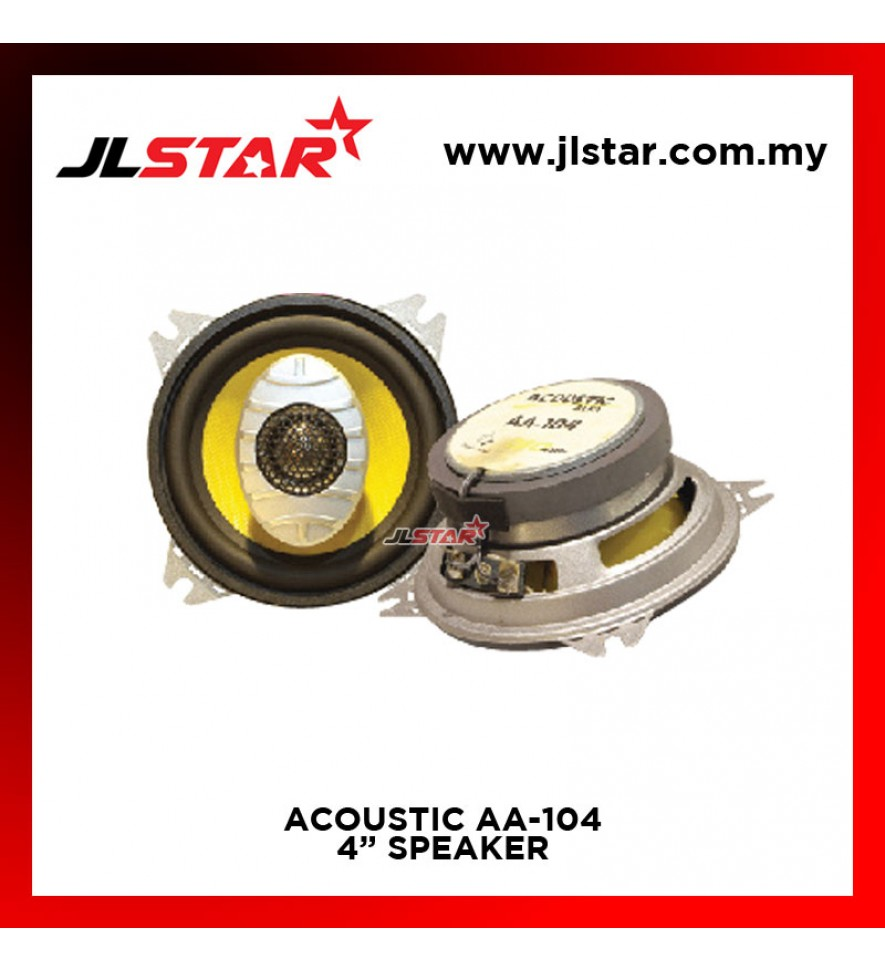 ACCUSTIC AA-104 2 WAY 4 INCH CAR AUDIO SPEAKER