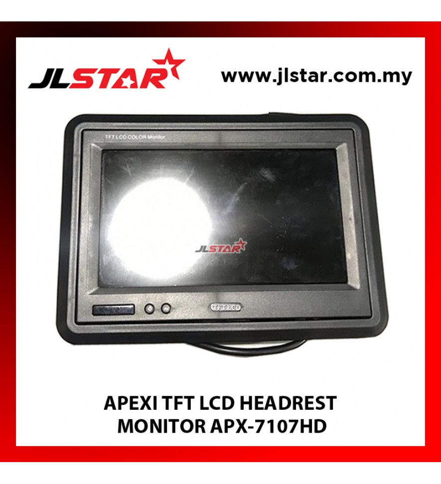 APEXI TFT LCD HEADREST MONITOR WITH STAND & FRAME