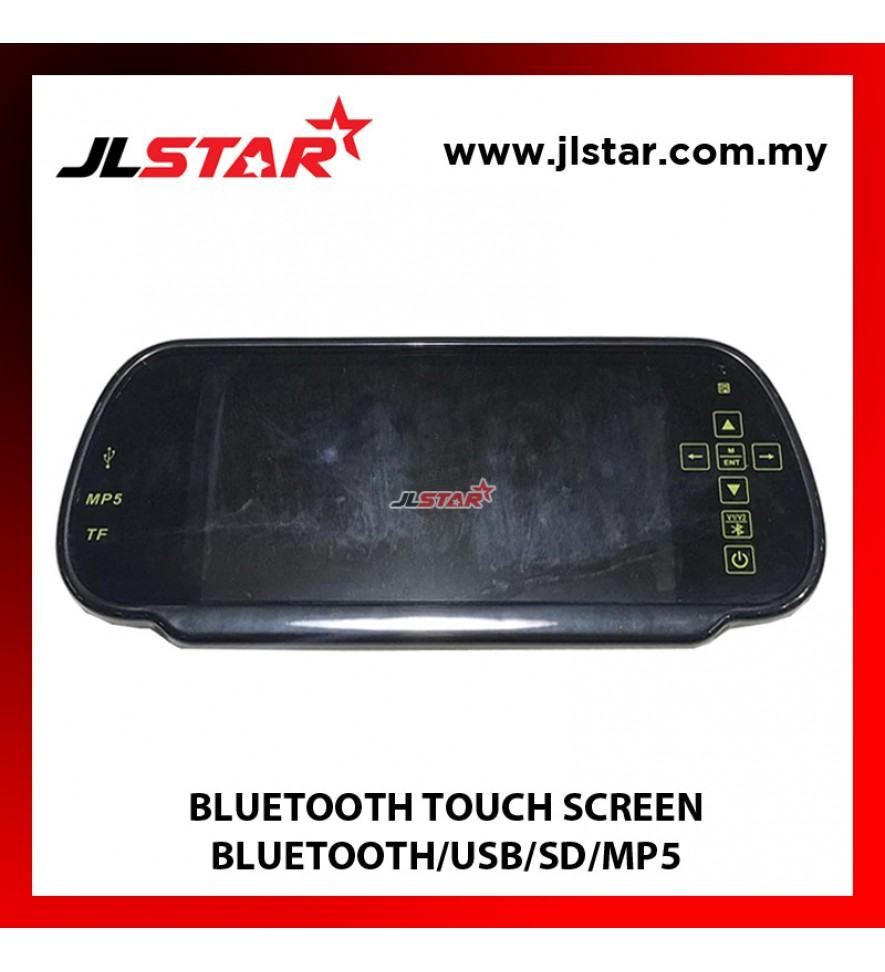 "7"" Bluetooth Color Touch Screen Car Monitor Rear View Mirror with Remote Control, USB and SD Inputs"