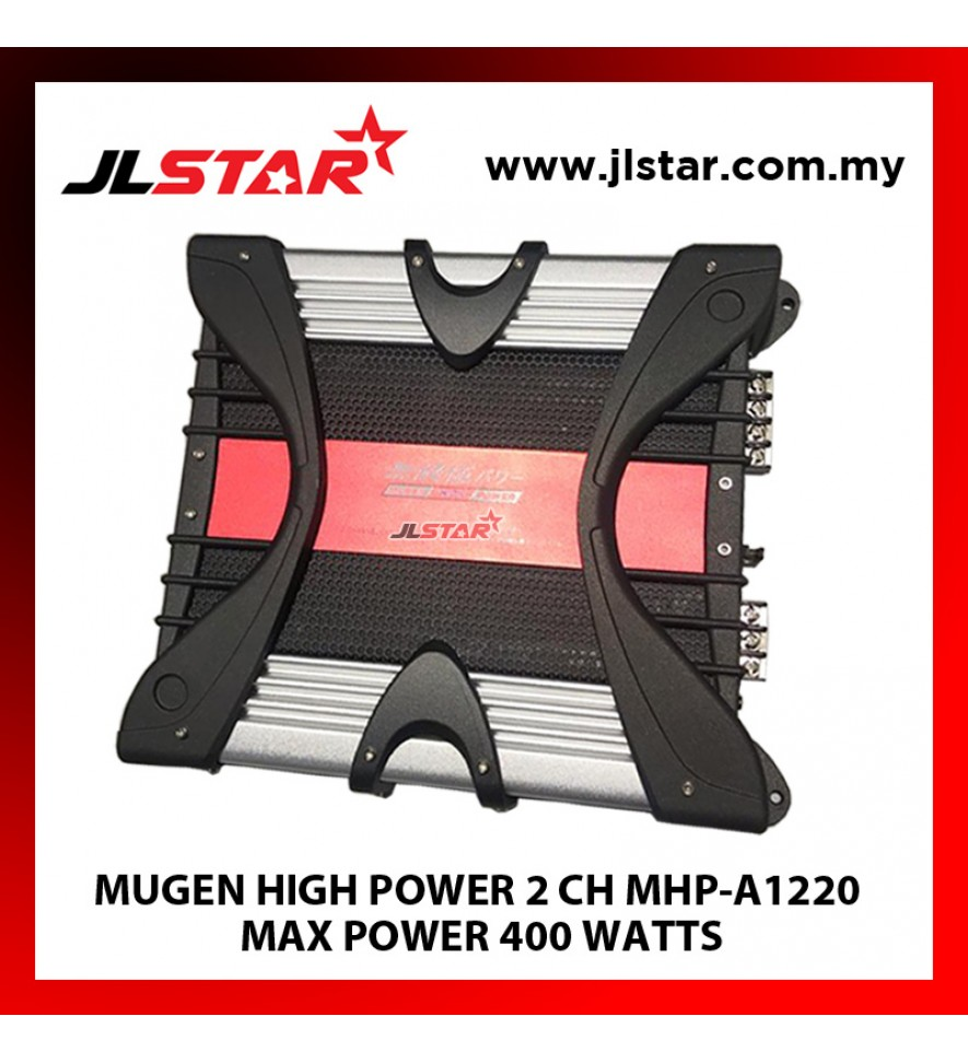 MUGEN HIGH POWER MHP-A1220 AMPLIFIER 2 CHANNEL MAX POWER 400WATTS