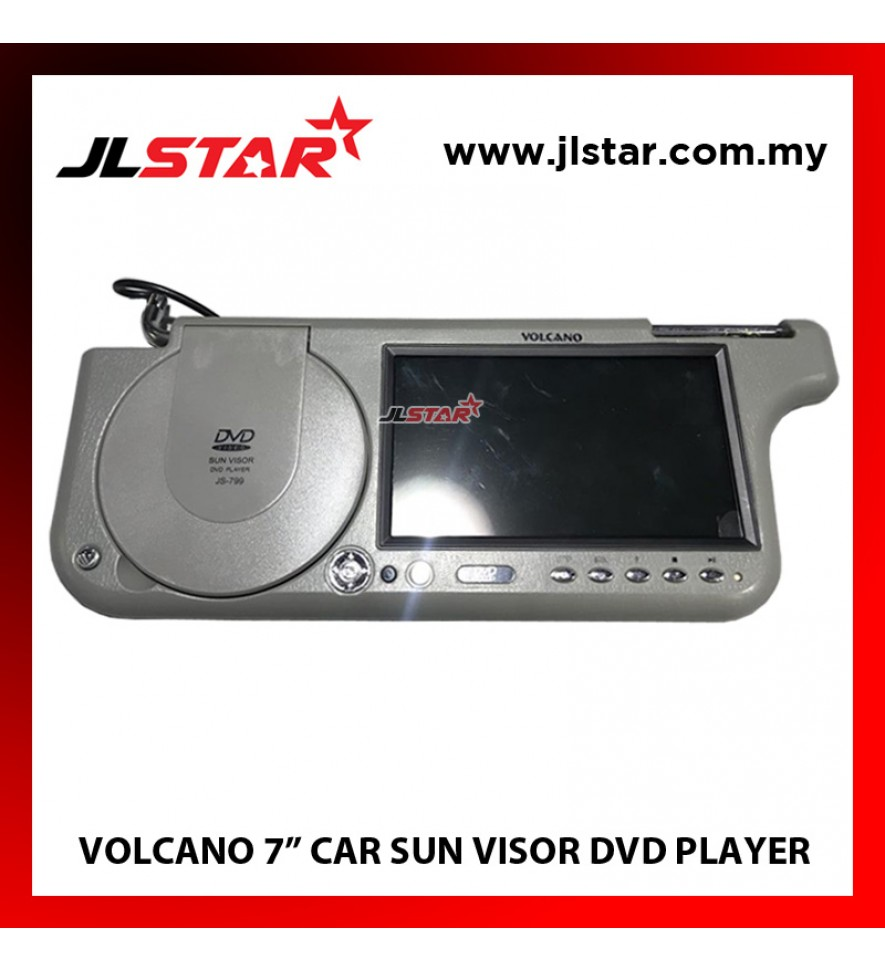 "7"" VOLCANO CAR SUN VISOR DVD PLAYER"