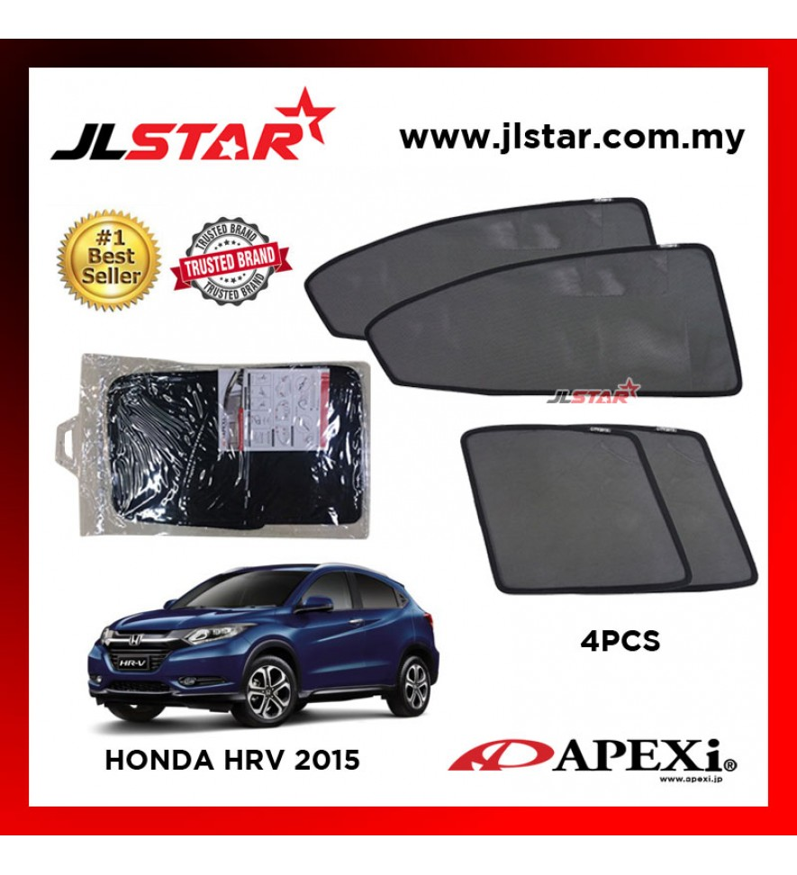 APEXI HONDA HRV 2015 CUSTOM FIT OEM SUNSHADES CAR CURTAIN 4 PCS