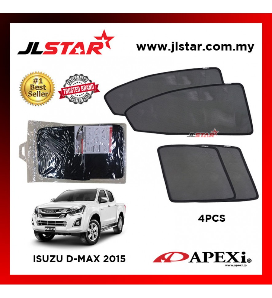 APEXI ISUZU D-MAX 2015 CUSTOM FIT OEM SUNSHADES CAR CURTAIN 4 PCS