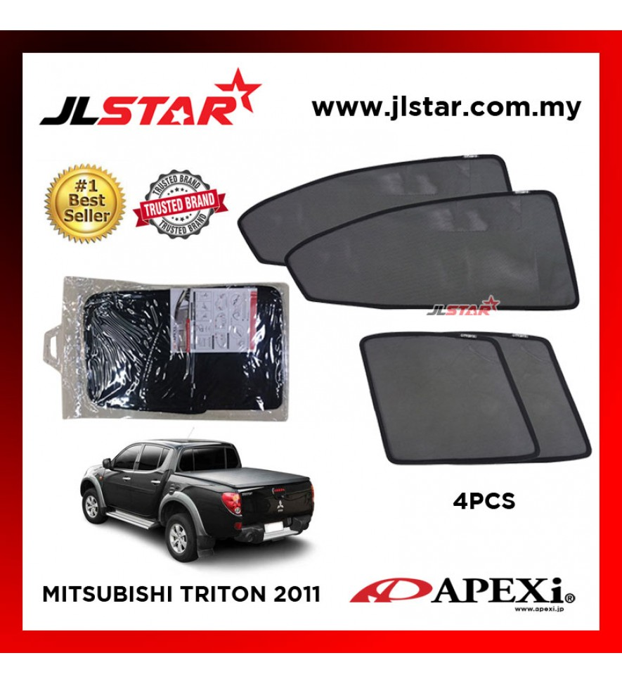 APEXI MITSUBISHI TRITON 2011 CUSTOM FIT OEM SUNSHADES CAR CURTAIN 4 PCS