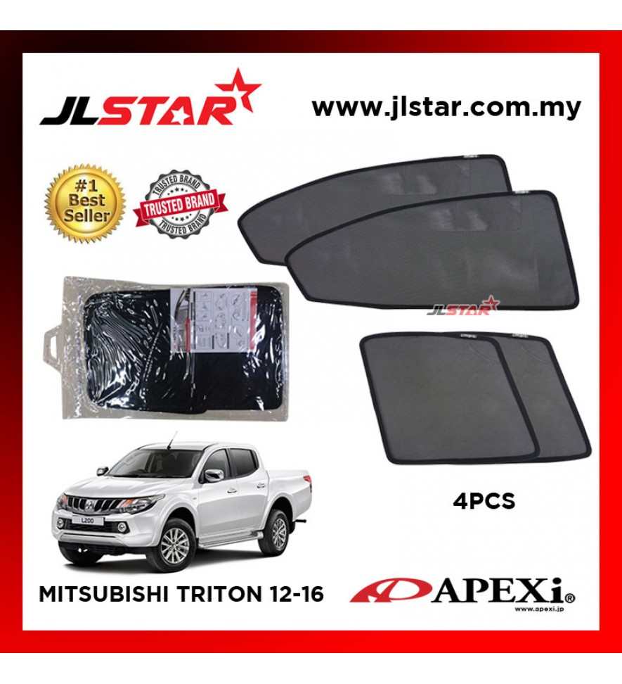 APEXI MITSUBISHI TRITON 2012-2016 CUSTOM FIT OEM SUNSHADES CAR CURTAIN 4 PCS