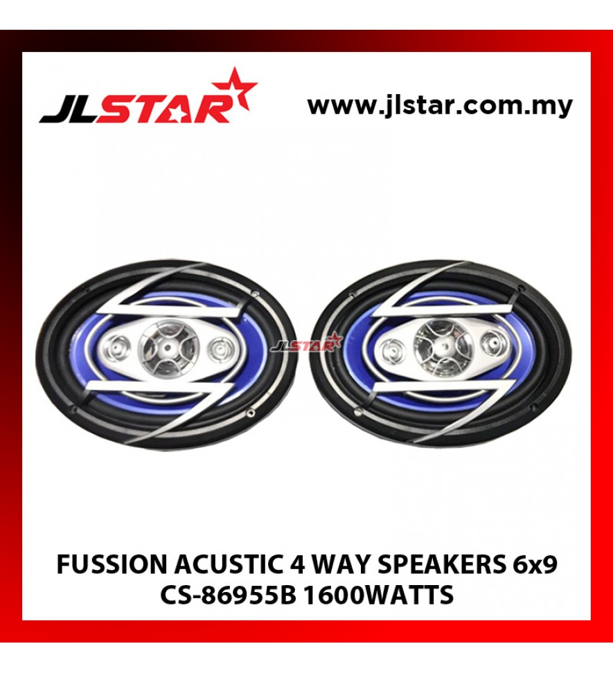 FUSSION ACUSTIC 4 WAY SPEAKERS 6x9 CS-86955B 1600WATTS