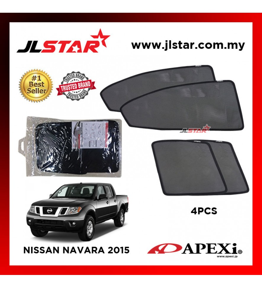 APEXI NISSAN NAVARA 2015 CUSTOM FIT OEM SUNSHADES CAR CURTAIN 4 PCS