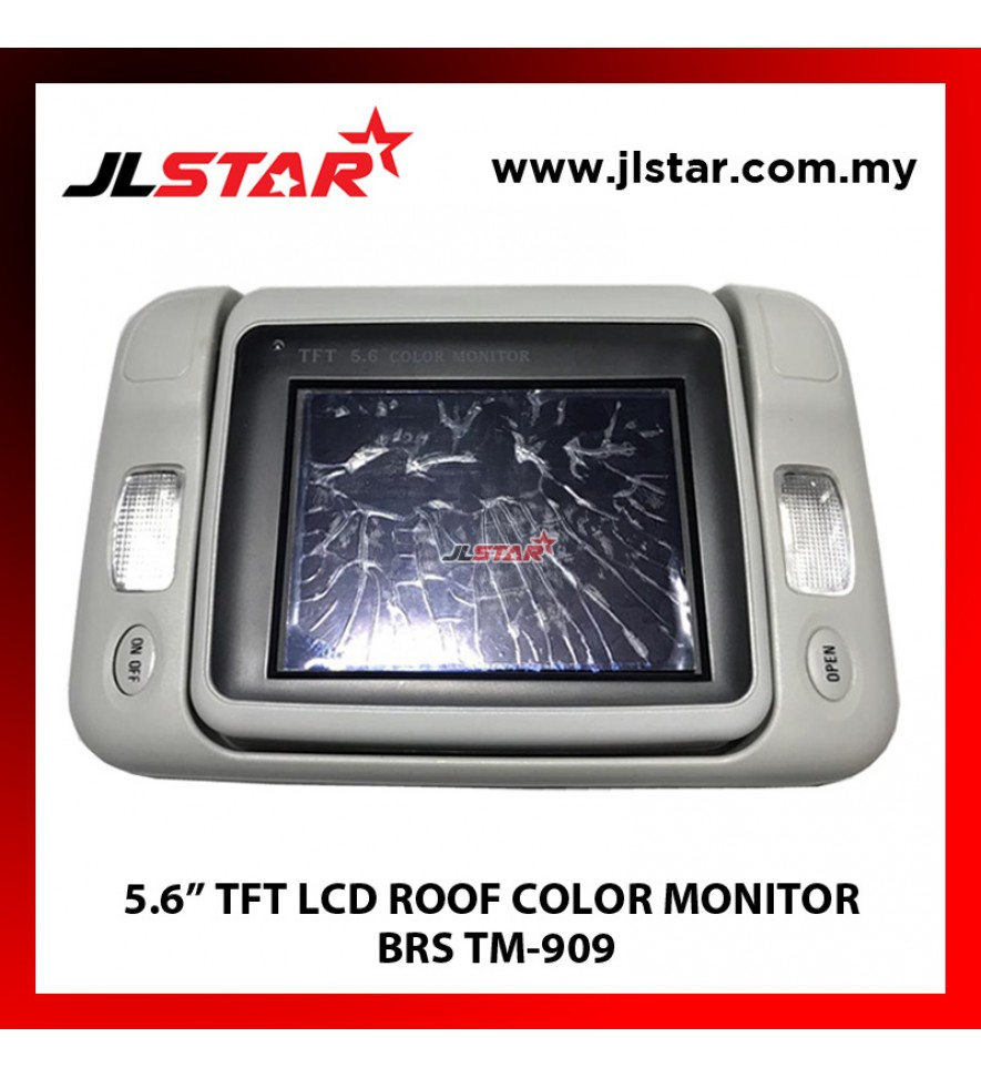 "5.6"" TFT LCD ROOF COLOR MONITOR BRS TM-909"