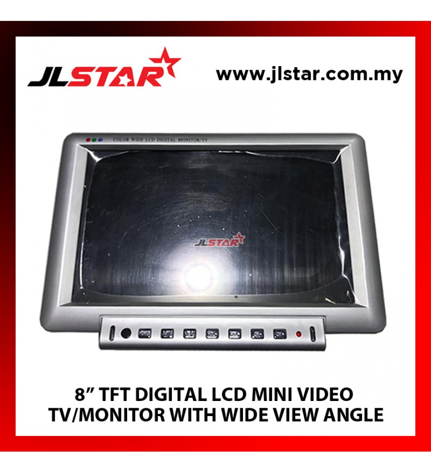 "8"" TFT DIFITAL LCD MINI VIDEO TV/MONITOR WITH WIDE VIEW ANGLE"